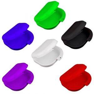 2 Pièces de Boîte Pot pour Dentier Orthèse Soin Dentaire Santé