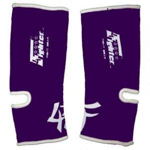 4Fighter Support de Cheville élastique Pourpre/Violet avec Les Contours Noirs, Taille:L/XL