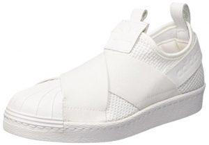 adidas Superstar Slipon W, Chaussures de Basketball Femme, Blanc ftwwht/cblack, 37 1/3 EU