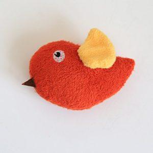 Ari_Mao Oiseau Forme Jouet Pet Molar Jouet Chien Squeaky Sound Jouets (Aile Orange)