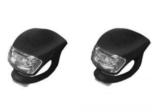 BeautyLife Lumières LED pour vélo en silicone à clipser 2 Pack Black