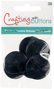 Blumenthal Large Color Buttons 8/Pkg-Black 7/8″