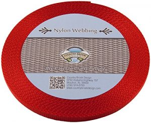 Country Brook Designã 'â Rouge 3/20,3 cm Sangle en Nylon renforcée, 274,3 m