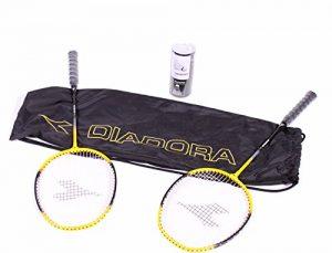 Diadora Set 2 Raquettes + 3 Volants Badminton TO195