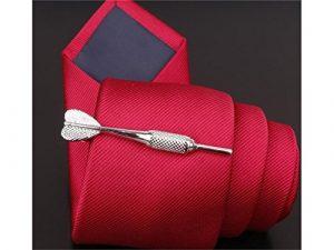 DOOUYTERT Hommes Vintage Cravate Bar Clip Set Classique pour Hommes Cravate Barre pour Cravates Régulières (Argent)