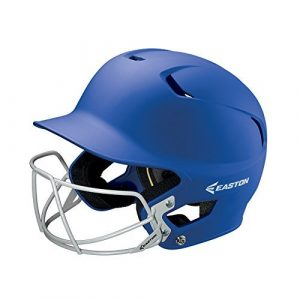Easton Senior Z5 Grip Batters Helmet with BBSB Mask, Royal by Easton