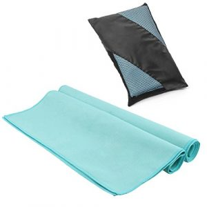 EveShine Serviette Microfibre, Serviette de Sport Ultra compacte, absorbante et séchage Rapide pour Camping, Plage, Piscine, Gym, Yoga, Pilates ou Bain – 27,6 Pouces x 55 Pouces