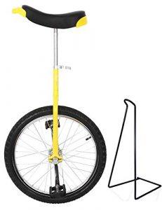 Funsport Monocycle Réglable 24 Pouces Jaune