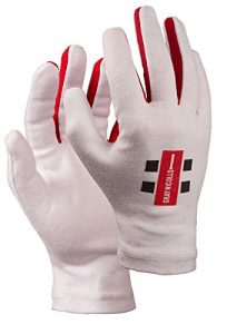 GRAYS-Nicolls Pro Inner Full Finger Batting, Blanc, Poignet Droit
