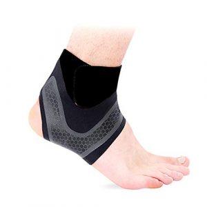 Hually supports de cheville réglables antidérapants et respirants, super élastiques et confortables taille unique protège contre les tensions chroniques de cheville les entorses de fatigue etc.