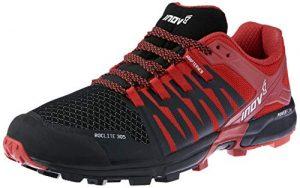 INOV-8 Nouveau Roclit305 Chaussures de Course pour Hommes Chaussures de Sport Noir/Rouge, Noir,3