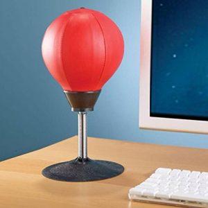 Jixing Bureau Punching Ball Stress Buster Poire de vitesse vitesse Punching Ball, Rot, 18 cm