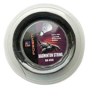 Lixada chaîne de Raquette résistante de Badminton de Remplacement de 600FT, 0.72mm (Noir)
