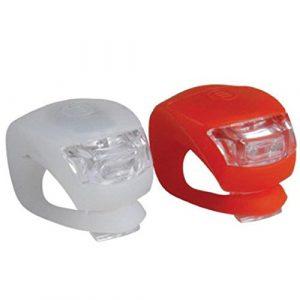Lot de 2 Lampes de Sécurité à LED pour Vélo Diadia en Silicone à Placer sur la Roue Avant ou Arrière