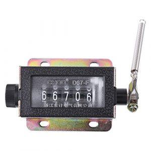 Mini Compteur Mécanique Manuel Comptage 5 Chiffres Arithmomètre