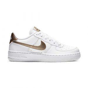 Nike Air Force 1 EP (GS), Chaussures de Basketball Femme, Multicolore (White/Blur 000), 38 EU