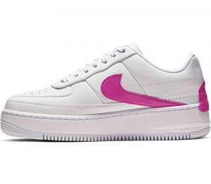 Nike W Af1 Jester XX, Chaussures de Basketball Femme, Multicolore (White/Laser Fuchsia 000), 42 EU