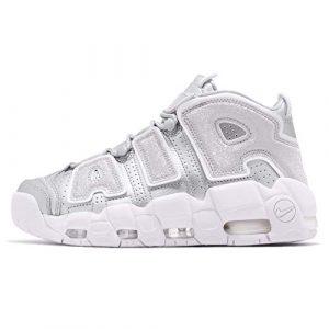 Nike W Air More Uptempo, Chaussures de Basketball Femme, Multicolore Metallic Silver/White 003, 38 EU