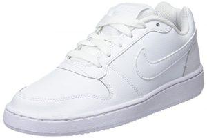 Nike – WMNS Ebernon Low – Sneakers Basses – Femme – Blanc (White/White 001) – 38.5 EU