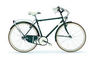 Oldstyle vélo MBM Riviera Hommes avec châssis en acier – nouveauté 2016 (English Green)