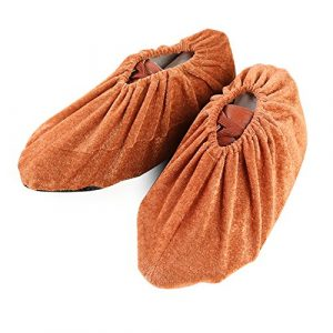oobest Couvre-Chaussures de Velours réutilisables Couvre-Bottes antidérapantes lavables pour Atelier sans poussière en intérieur
