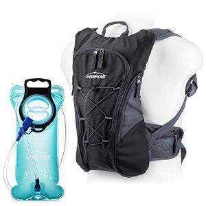 Overmont Sac à dos d'hydratation avec poche à eau 2L TPU pour cyclisme, randonnée, Running etc.