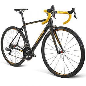 POTHUNTER Vélo De Route,RT800 Vélo De Course Ultra-léger en Fibre De Carbone Compétition sur Route Spéciale Bicyclette Racing 22 Vitesses De électronique sans Fil Vitesse Variable,Gold-700C*25C