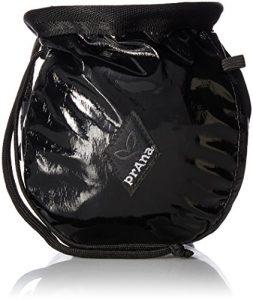 Prana Sac à magnésie avec ceinture, mixte, noir brillant