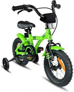Prometheus vélo Enfant 12 Pouces pour garçons et Fille en Vert et Noir à partir de 3 Ans avec stabilisateurs et rétropédalage – BMX 12 Pouces modèle 2019