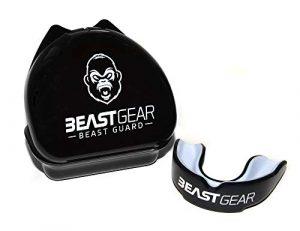 Protège-dents Beast Gear / Gouttière Coque Dentaire Protege Dent – pour Boxe, MMA, Rugby, Muay Thai, Hockey, Judo, Karate, Arts Martiaux et Sports de Combat et Contact (Adult (11+), Noir)
