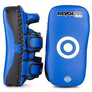 Revgear Noir Original incurvé pour boxe Muay Thai–Noir, Bleu, Rouge, Blanc, bleu