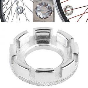 Robluee Clé à Rayon Vélo 8 Ports en Acier Chromé pour Réparation de Vélo,Téton,clé à molette