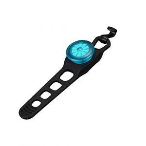 Robluee Lumière Rouge Eclairage Feu Arrière de Vélo Puissant Lampe Velo LED Rechargeable USB 1.5X2.3×1.65cm