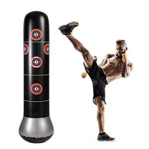 RUNACC – Sac de frappe sur pied pour le fitness, la boxe, sac gonflable avec cibles de frappe, parfait pour les enfants et les adultes