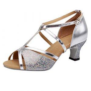Saihui Women's Shoes , Sandales Compensées Femme – Argenté – Silver, 36 EU