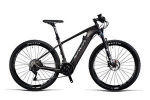 SAVADECK Vélo de Montagne électrique, 27,5″ Cadre en Fibre de Carbone E-MTB Shimano Deore XT 22 Vitesses et Batterie Lithium 36V Samsung et Fourche Fox, Roues DT Swiss