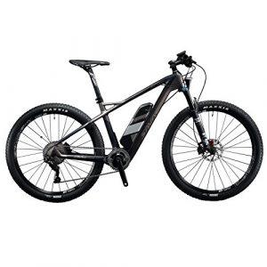 SAVADECK Vélo de Montagne électrique, Knight 6.0 27,5″ Cadre en Fibre de Carbone E-MTB Shimano Deore XT 11 Vitesses et Batterie Lithium 36V Samsung et Fourche Fox, Roues DT Swiss