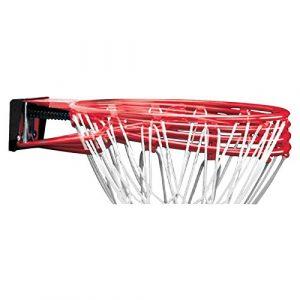 SPALDING – NBA SLAM JAM RIM (78-00SCNR) – Cercle Panier en Acier – Ressorts suspension – Filet résistant – rouge