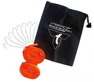 Speed-Badminton COURT LINES (lignes de démarcation de terrain) sous blister (néon orange) de la marque Talbot Torro