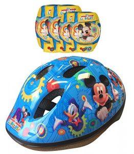 STAMP – DISNEY – MICKEY – K865507 – Vélo et Véhicule pour Enfant – Casque + Coudières / Genouillères Mickey
