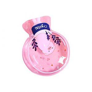 Sungpunet Classique Mignon Rond Transparent Eau Chaude Sac rempli Sac à Main Chauffage de l'eau Dessin animé Chauffe-Mains Transparent Classique en PVC de l'eau Chaude Pig