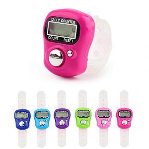 Teepao Mini Doigt Hand Held Clicker Comptoir, réinitialisable 5Chiffres LCD électronique numérique Compteur pour Le Sport/Coach/école/Cas (Couleur aléatoire)