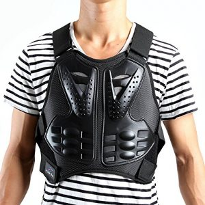 Veste de moto de protection Body Armour Armour Veste Guard Moto motard de motocross Gear Noir, noir