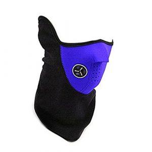 5starwarehouse® Masque de vélo, moto, ski, snowboard, pêche, anti-poussière, col chaud Demi visage, bleu