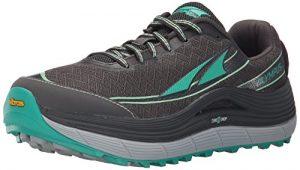 Altra Olympus 2.0Femmes Goutte de Zero Trail Chaussures de Course avec Semelle extérieure Vibram, Argente/Vert, 5.5 UK