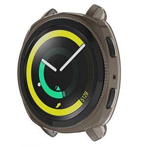 Bainuojia Smart Watch – Coque Samsung Gear Sport Antichoc incassable en Silicone, Gris