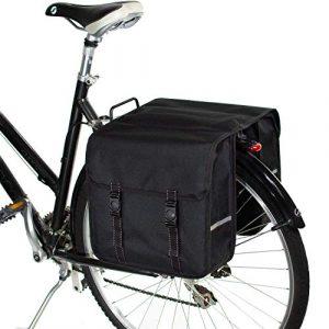 BikyBag Classique Double Sacoche de Vélo (Noir)
