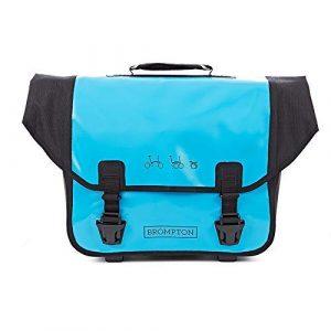 Brompton Ortlieb Sac, Lagon Bleu et Noir – Complet avec Cadre et Sangle