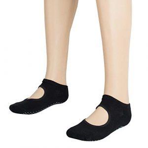 CARESHINE Nouveau Fitness Dames Filles Femmes Sport Yoga Grip Chaussettes Professionnel Coton Doux antidérapant Chaussettes de Sport Massage en Silicone