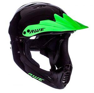 Casque intégral de BMX Awe® – Couleur noire et verte – 54-58cm